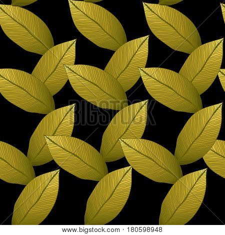 Seamless vector autumn background. Can be used as packing paper, pattern for textile. Foliage