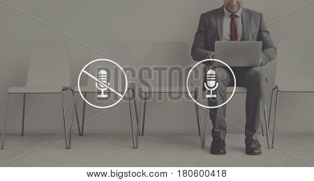 Multimedia Entertainment Microphone On/Off Button