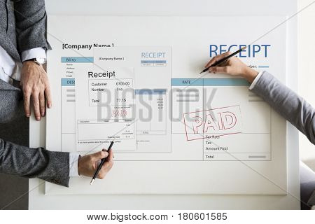 Receipt Bill Financial Transaction Payment Accounting
