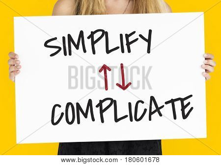 Simplify Complicate Arrow Up Down Word