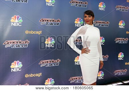 NEW YORK-AUG 11: Singer Mel B. attends the 'America's Got Talent' season 10 taping at Radio City Music Hall on August 11, 2015 in New York City.