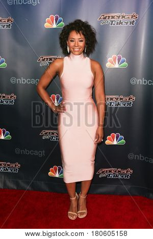 NEW YORK-AUG 12: Mel B attends the 'America's Got Talent' Season 10 Results Show at Radio City Music Hall on August 12, 2015 in New York City.