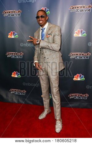 NEW YORK-AUG 12: TV host Nick Cannon attends the 'America's Got Talent' Season 10 Results Show at Radio City Music Hall on August 12, 2015 in New York City.