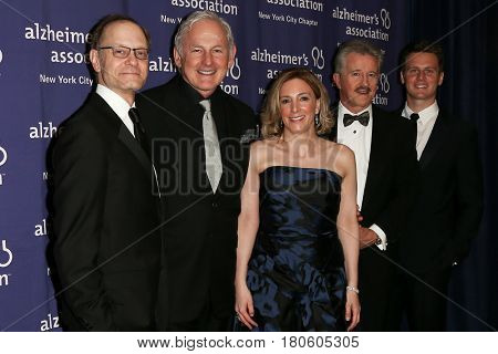 NEW YORK-JUN 8: (L-R) David Hyde Pierce, Victor Garber, Linda LaGorga, Dr. Max Gomez & Jonathan Groff attend the 2015