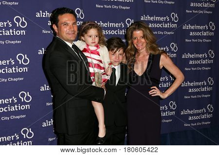 NEW YORK-JUN 8: (L-R) Jon Henes, Cece Henes, Sam Henes and Pam Henes attend Alzheimer's Association New York City Chapter's 2015