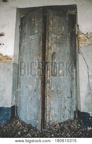 The texture of old door, which the old paint flaking. The texture of old door, which the old paint flaking