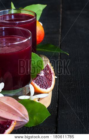 Blood Orange Juice Background
