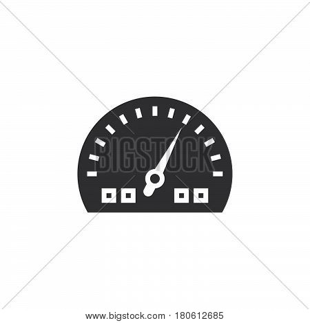 Dashboard Icon Vector, Speedometer Gauge Solid Logo Illustration, Pictogram Isolated On White