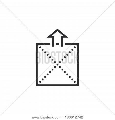Extract Archive Line Icon, Outline Vector Logo Illustration, Linear Pictogram Isolated On White