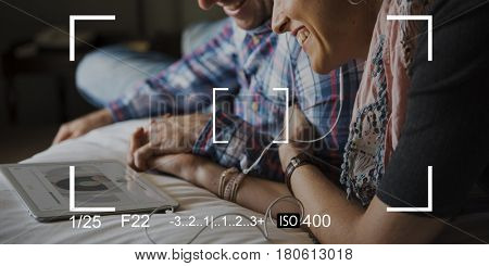 Couple Camera Capture Snap Shot Banner