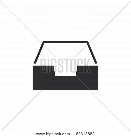 Inbox Icon Vector, Box Solid Logo Illustration, Pictogram Isolated On White