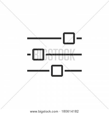 Options Line Icon, Settings Outline Vector Logo, Linear Pictogram Isolated On White, Pixel Perfect I