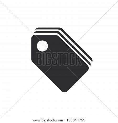 Price Tags Icon Vector, Sale Labels Solid Logo Illustration, Pictogram Isolated On White