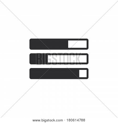 Task Bars Icon Vector, Solid Logo Illustration, Pictogram Isolated On White