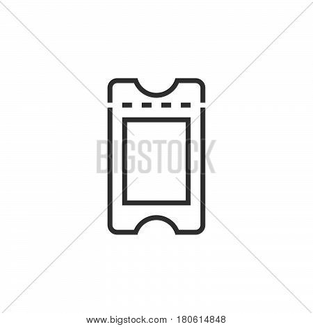 Ticket Line Icon, Outline Vector Logo Illustration, Linear Pictogram Isolated On White