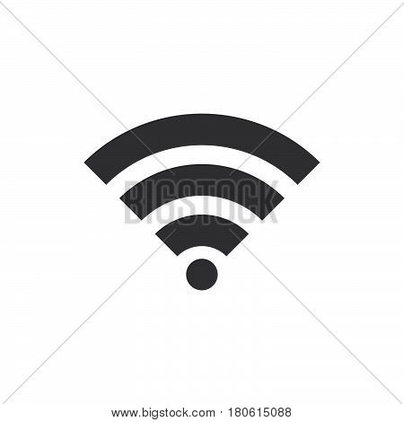 Wifi Signal Icon Vector, Wireless Network Solid Logo Illustration, Pictogram Isolated On White