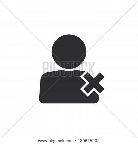 Delete User Icon Vector, Remove Account Solid Logo Illustration, Pictogram Isolated On White