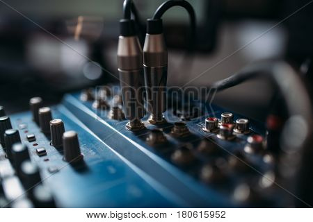 Volume level control panel, closeup
