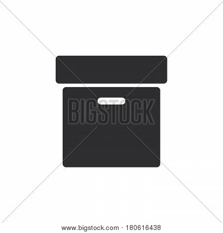 Archive Box Icon Vector, Solid Logo Illustration, Pictogram Isolated On White