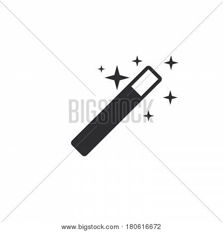 Wizard Icon Vector, Magic Stick Solid Logo Illustration, Pictogram Isolated On Whitev