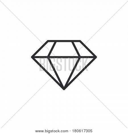 Diamond Line Icon, Brilliant Outline Vector Logo Illustration, Linear Pictogram Isolated On White