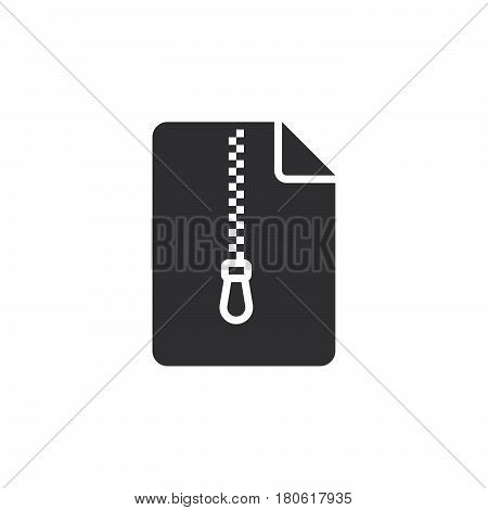 File Archive Icon Vector, Solid Logo Illustration, Pictogram Isolated On White