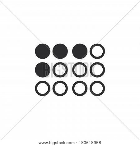 Braille Symbol. Icon Vector, Solid Logo Illustration, Pictogram Isolated On White
