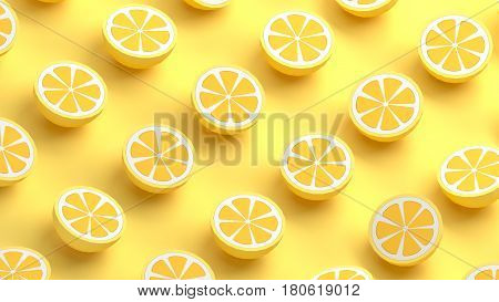 Collection of pomelo fruits. Pummelo polygonal design 3d rendering