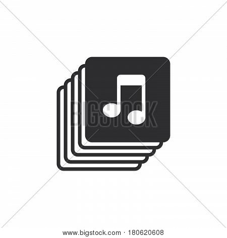 Music Collection Icon Vector, Playlist Solid Logo Illustration, Pictogram Isolated On White