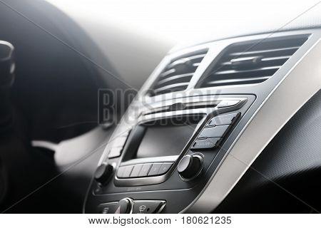 Control panel in a modern car. Car dashboard