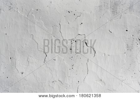 Wall From Clay Whitewashed With Lime, Textured Background