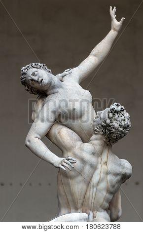 Sculpture of the Renaissance in Piazza della Signoria in Florence, Italy