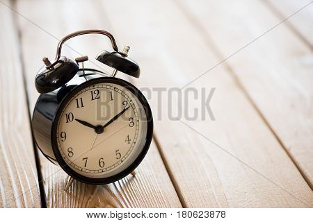 Time Concept With Alarm Clock On Desk