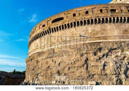 Former mausoleum of Emperor Hadrian in the Castel Sant`Angelo in Rome, Italy