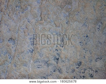 Old Stone Background Texture. Cobblestone Floor Or Wall Rusty Pattern. Grey Rock Scratched With Mark