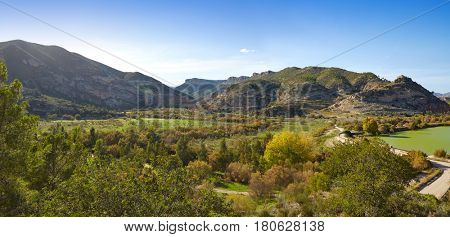Domeno reservoir in Valencia of Spain Serranos area