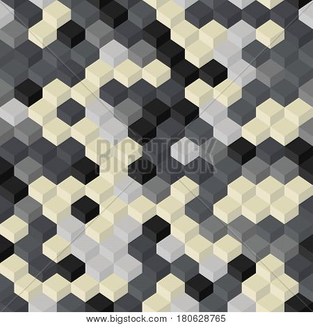 Geometry Seamless Background. Vector Illustration