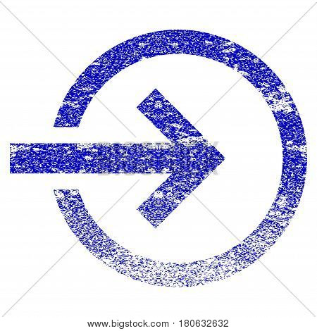 Import grunge textured icon. Flat style with unclean texture. Corroded vector blue rubber seal stamp style. Designed for overlay watermark stamp elements with grainy design.