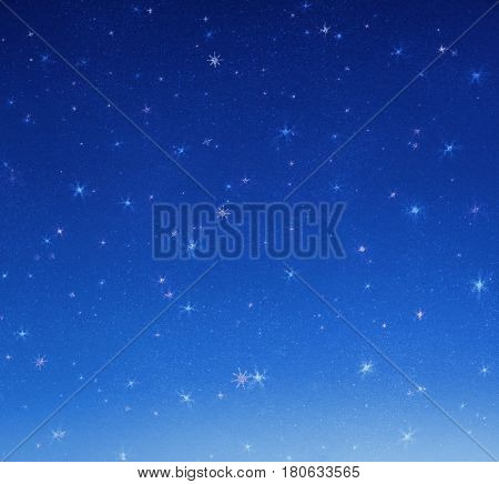 Bright stars on the night sky