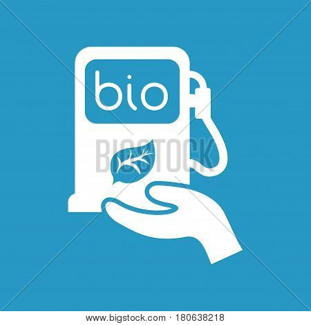 hand holding gasoline pump vector illustration eps 10