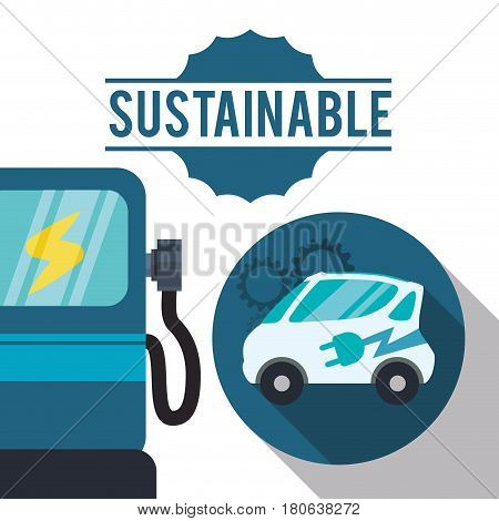 sustainable car gas ecology vector illustration eps 10