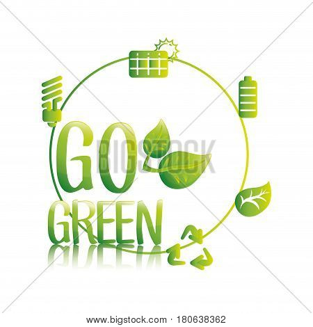 go green eco save resources vector illustration eps 10