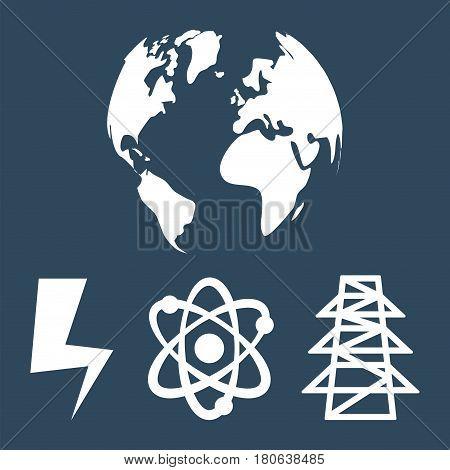globe world energy clean sustainable vector illustration eps 10