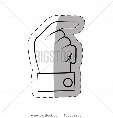 hand male expression signal vector illustration eps 10
