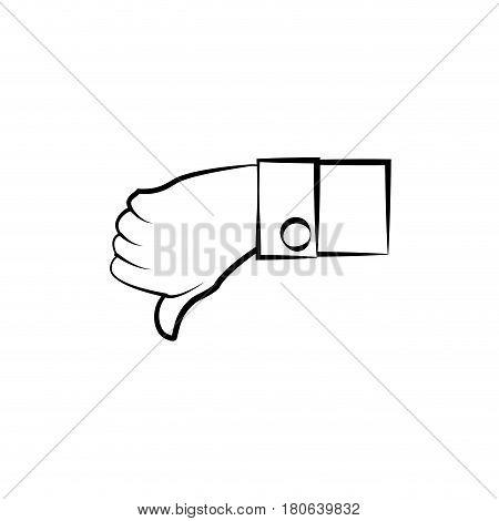 hand unliked symbol line vector illustration eps 10