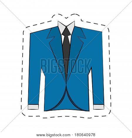 blazer suit jacket man vector illustration eps 10
