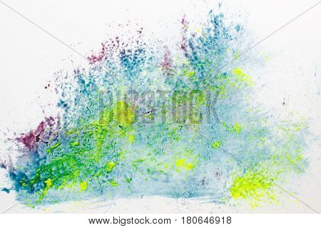 Creative colorful painting, modern art, abstractionism, painting. Microscopy bacterial sample, analysis of laboratory swab, microbiology