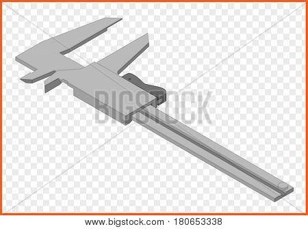 vernier caliper mesurment instrument isometric isolated vector eps Illustration