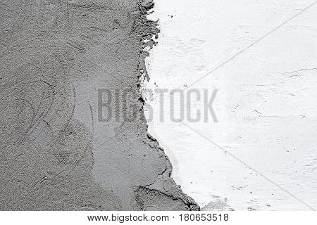 plaster natural color on a concrete wall