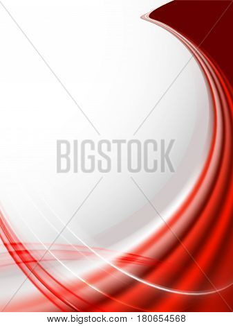 abstract red wave background in the form of lines and place for text